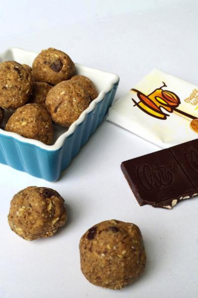 Almond Chocolate Chip Bliss Balls