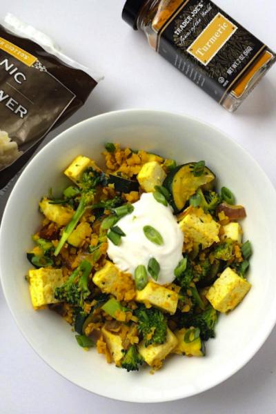 Grain-free Turmeric Veggie & Tofu Sauté