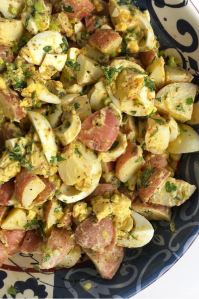 Potato & Egg Salad (Vinegar-based, mayo-free)