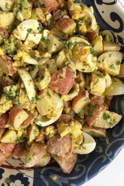Potato & Egg Salad (Vinegar-based, mayo-free)