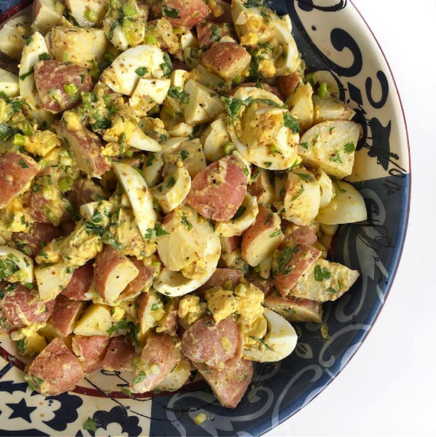 Potato Egg Salad Vinegar Based Mayo Free