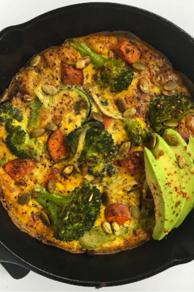 Sweet Potato Broccoli Omelettata