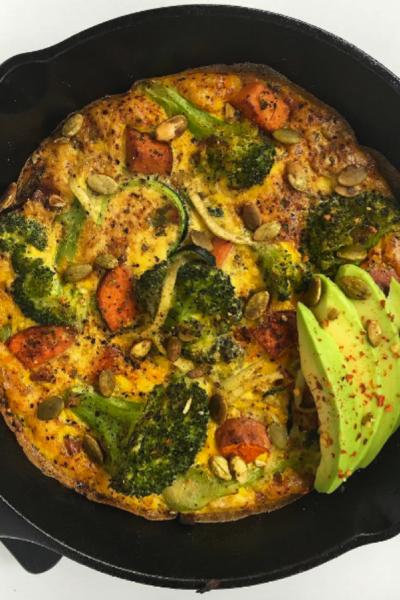 Sweet Potato Broccoli Omelettata