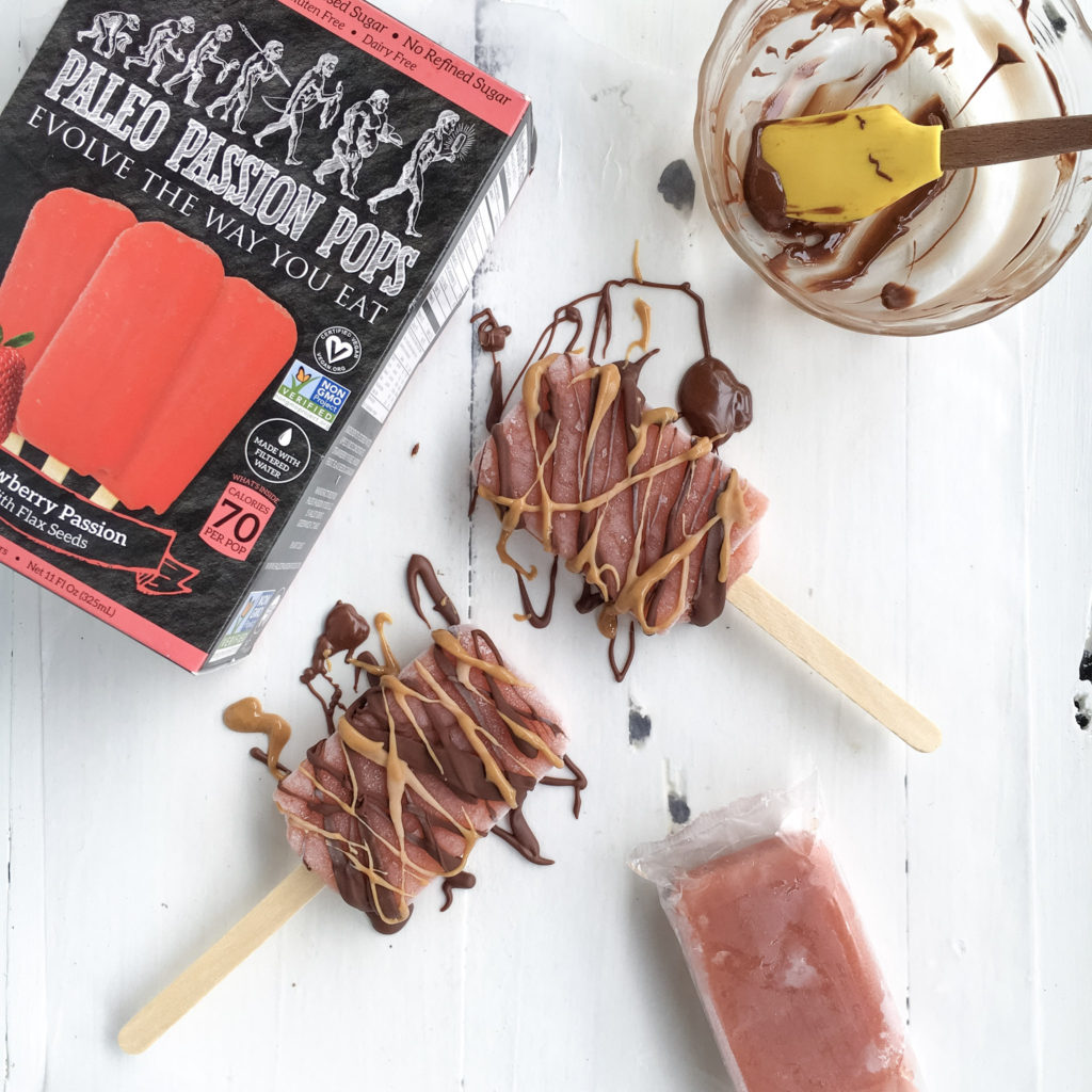 Chocolate PB & Strawberry Pops