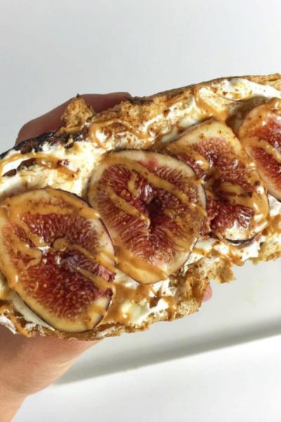 Fig and Yogurt on Toasted Sourdough