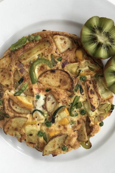 Fried Red Potato & Veggie Omelettata