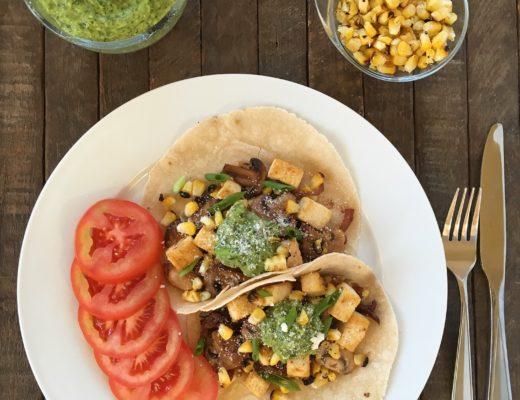 Vegan Chipotle Mushroom And Tofu Tacos