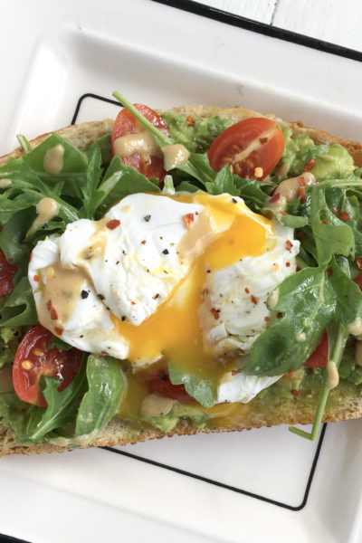 Avo Egg Smash On Toasted Sourdough