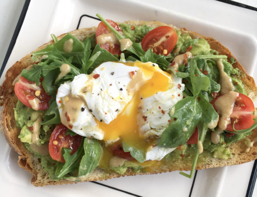 Avo Egg Smash On Toasted Sourdough