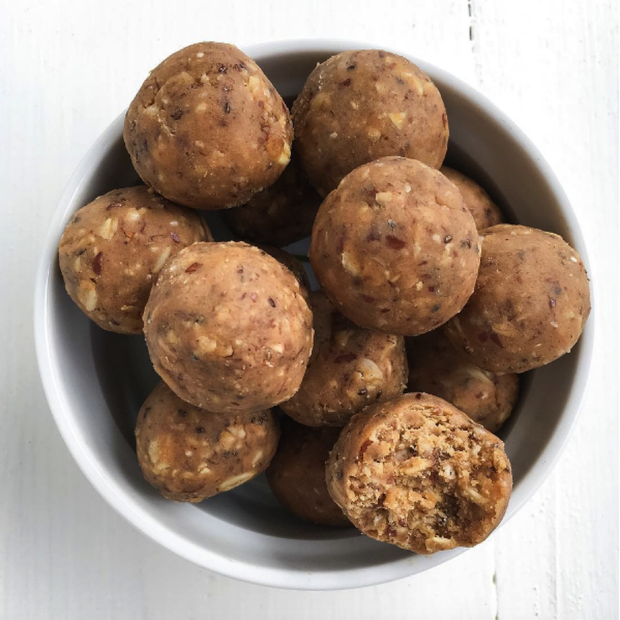 Peanut Butter Chai Protein Bliss Balls