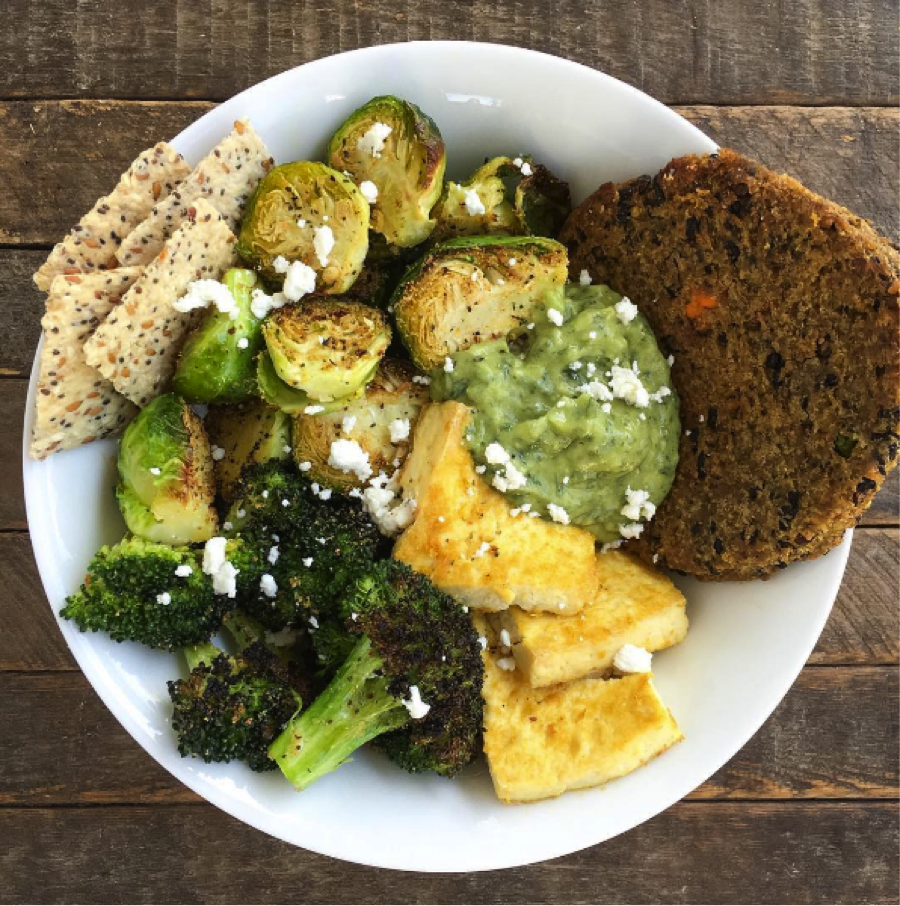 Tofu-Greens-and-Veggie-Burg-Bowl