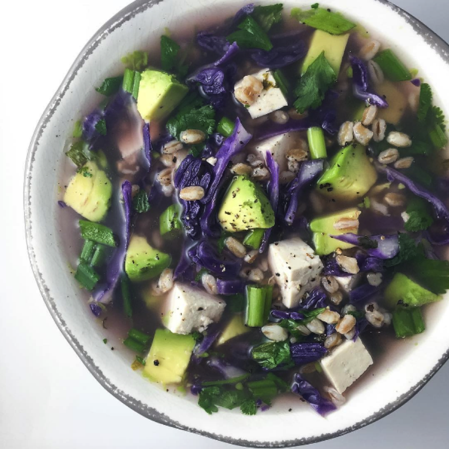 Spicy Sesame Cabbage Bone Broth Soup