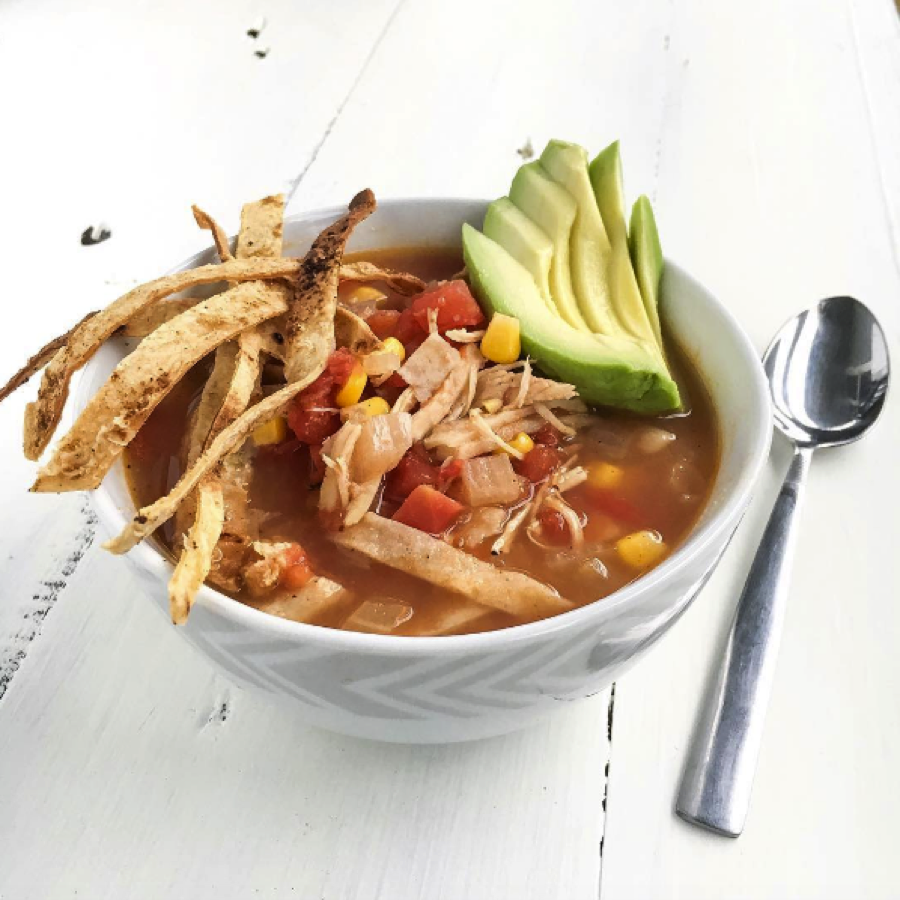 Crockpot white chicken chili is the easiest way to make chili, because the slow cooker does the cooking. This white chicken chili is healthy comfort food and one of the best crock pot recipes for a .