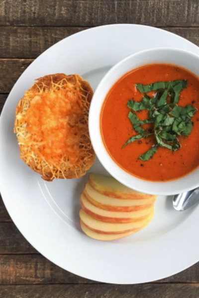 Roasted Red Pepper Tomato Soup (Dairy-free!)