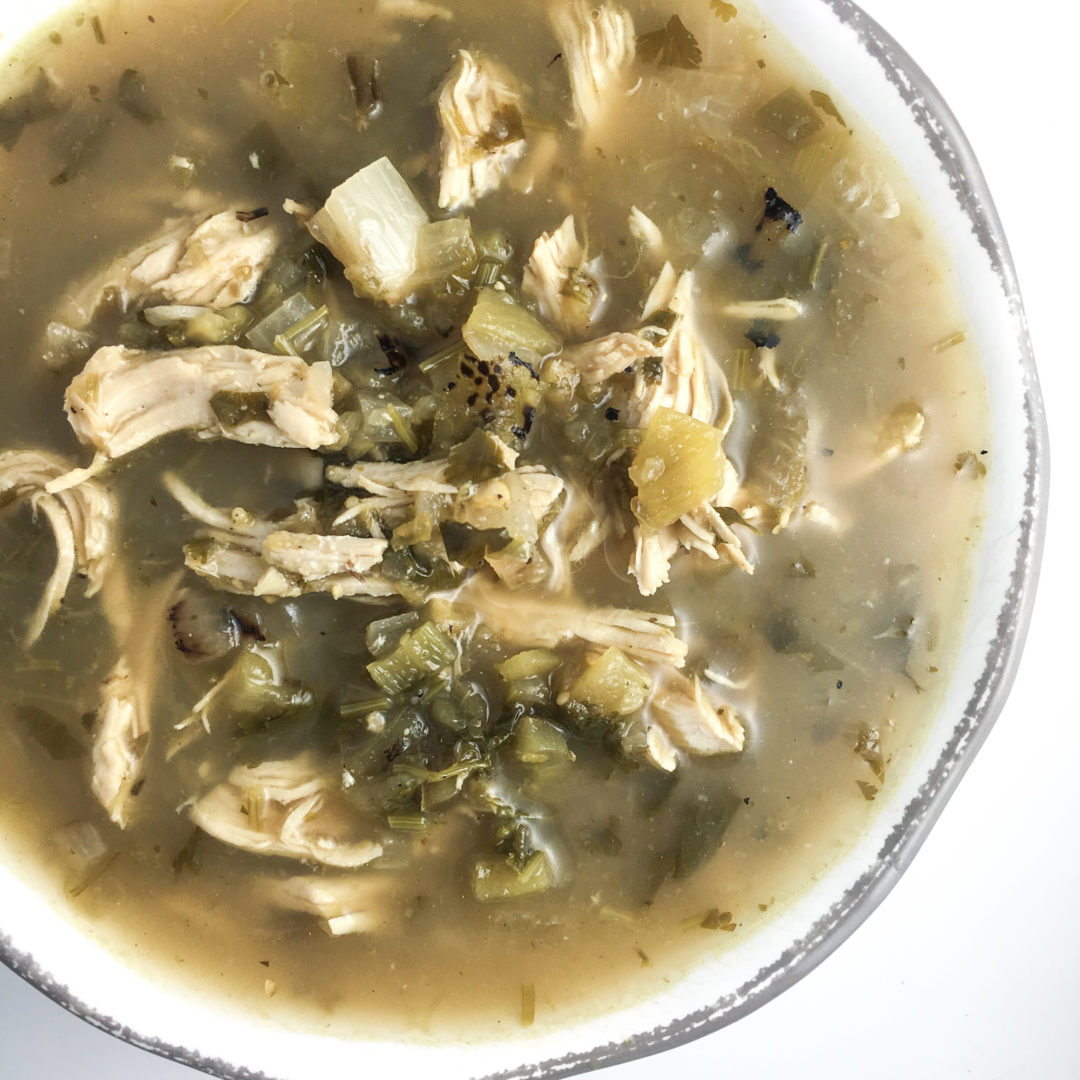 Crockpot Shredded Chicken Verde Soup – RachaelsGoodEats