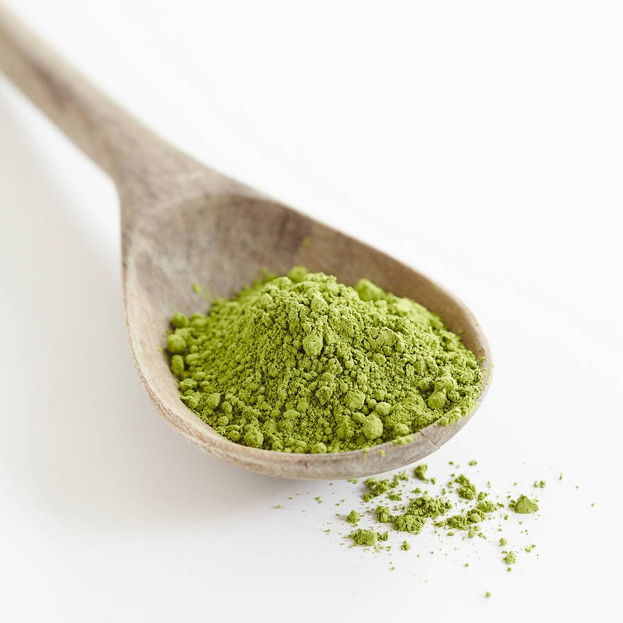how to get green tea powder