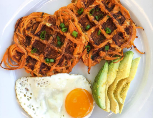 savory-spiralized-sweet-potato-waffles