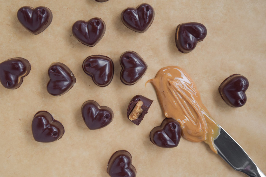 Chocolate PB Heart Cups