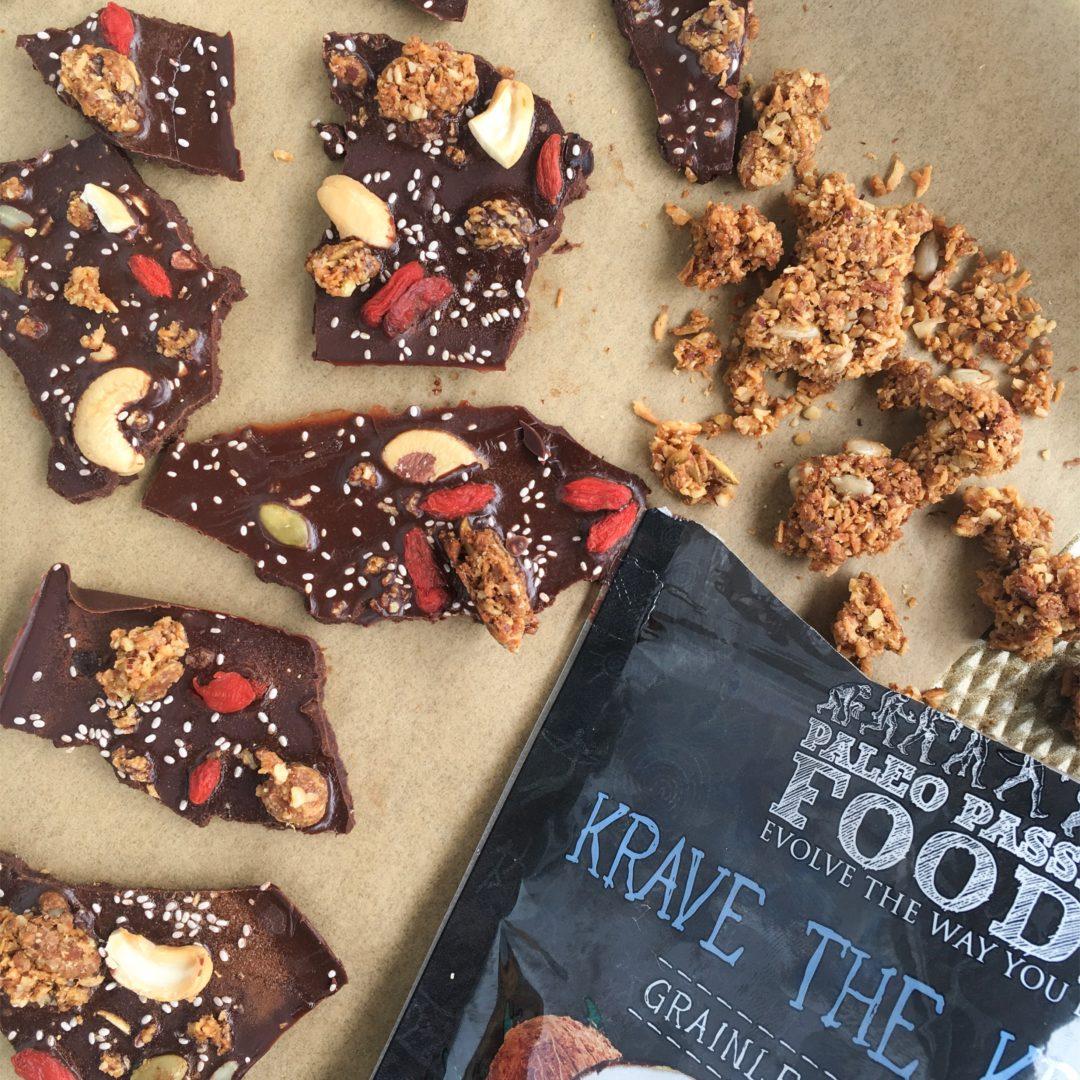 Chocolate Peppermint Superfood Bark