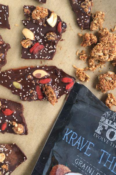 Chocolate Peppermint Superfood Bark (Sugar-Free)