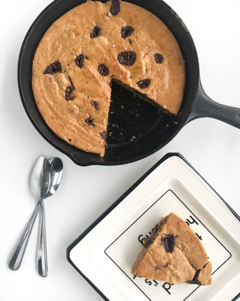 Cashew Chocolate Chip Cookie Skillet