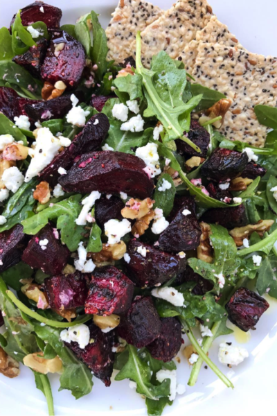 Roasted Beet, Arugula, and Goat Cheese Salad