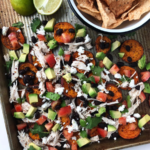 Sweet Potato Nachos With Shredded Chicken