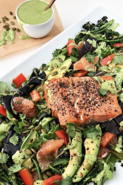 Summer Grapefruit Salad with Wild Salmon