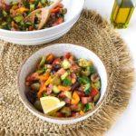 Simple Greek Salad (Dairy-free!)