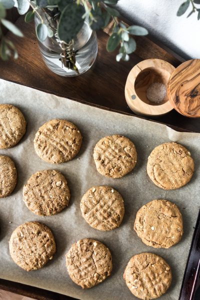 Soft & Chewy Peanut Butter Cookies (Healthified!)