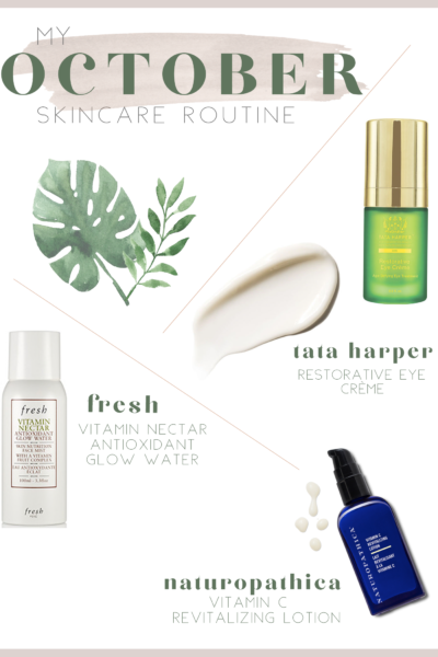My October Skincare Routine