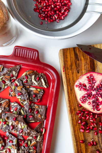 Peppermint Chocolate Holiday Bark