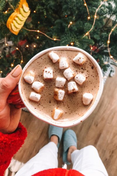 Peppermint Hot Chocolate Latte