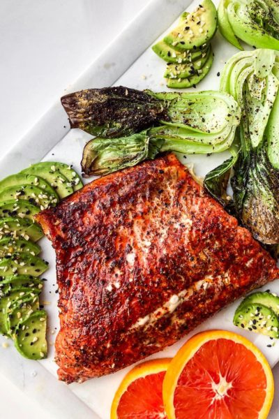 Honey Chipotle Salmon With Roasted Bok Choy
