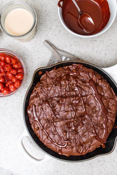 Fudge Cherry Brownie Skillet (GF, Dairy-free)