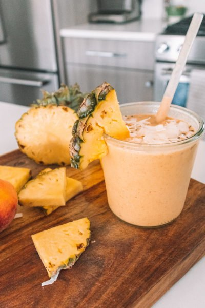 The Peachy Protein Smoothie I've Been Making Every Morning